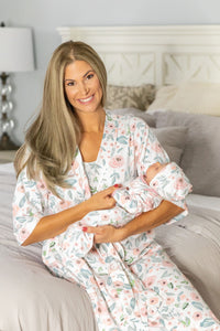 Ivy Robe & Baby Girl Coming Home Outfit Set