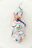 Rainbow Delivery Robe & Swaddle Blanket Set