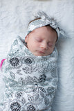 Ella Baby Girl Swaddle Blanket & Headband Set