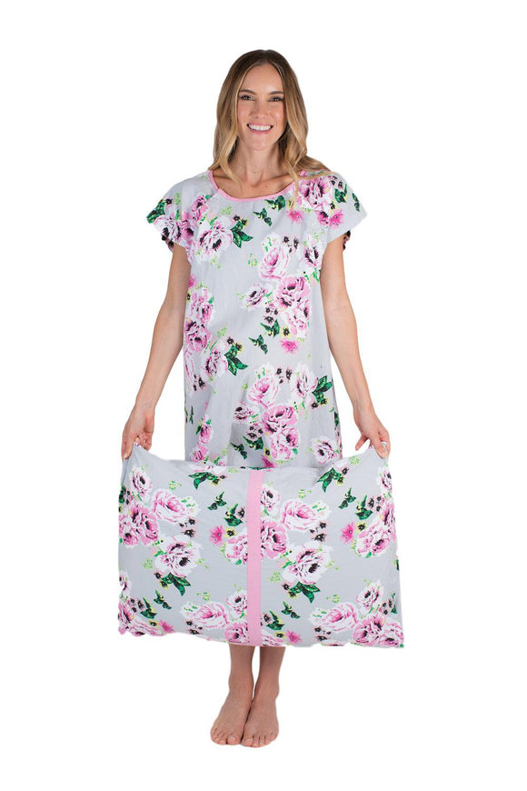 Olivia Patient Hospital Gown & Pillowcase Set