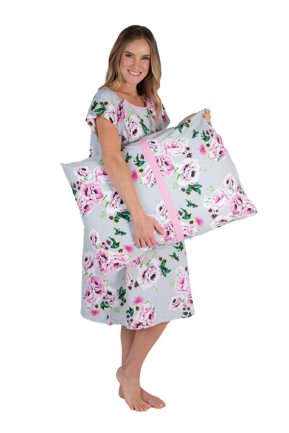 Olivia Patient Hospital Gown & Pillowcase Set – Gownies