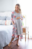 Grey Labor Gown & Sophie Matching Robe