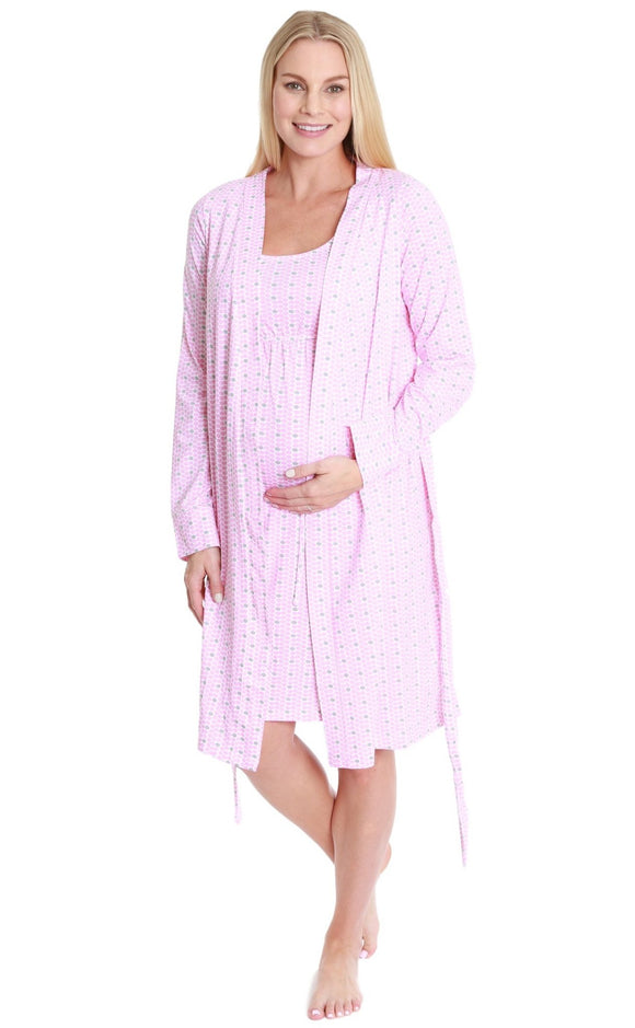 Chloe Maternity/Nursing Sleeveless Nightgown & Robe Set