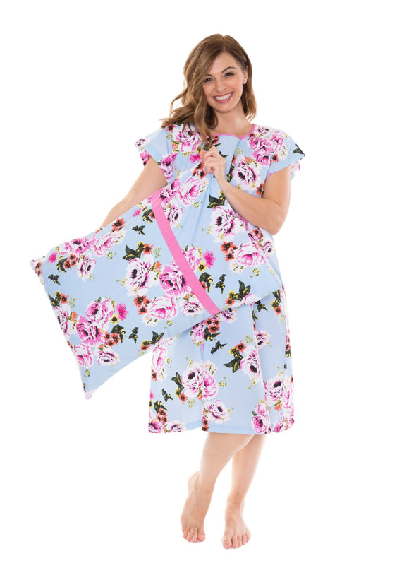 Isla Patient Hospital Gown & Pillowcase Set