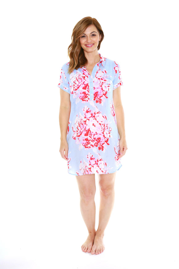 Mae Luxurious Soft Floral Nursing Nightshirt