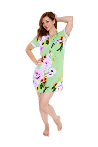 Delphine Luxurious Soft Floral Nursing Nightshirt