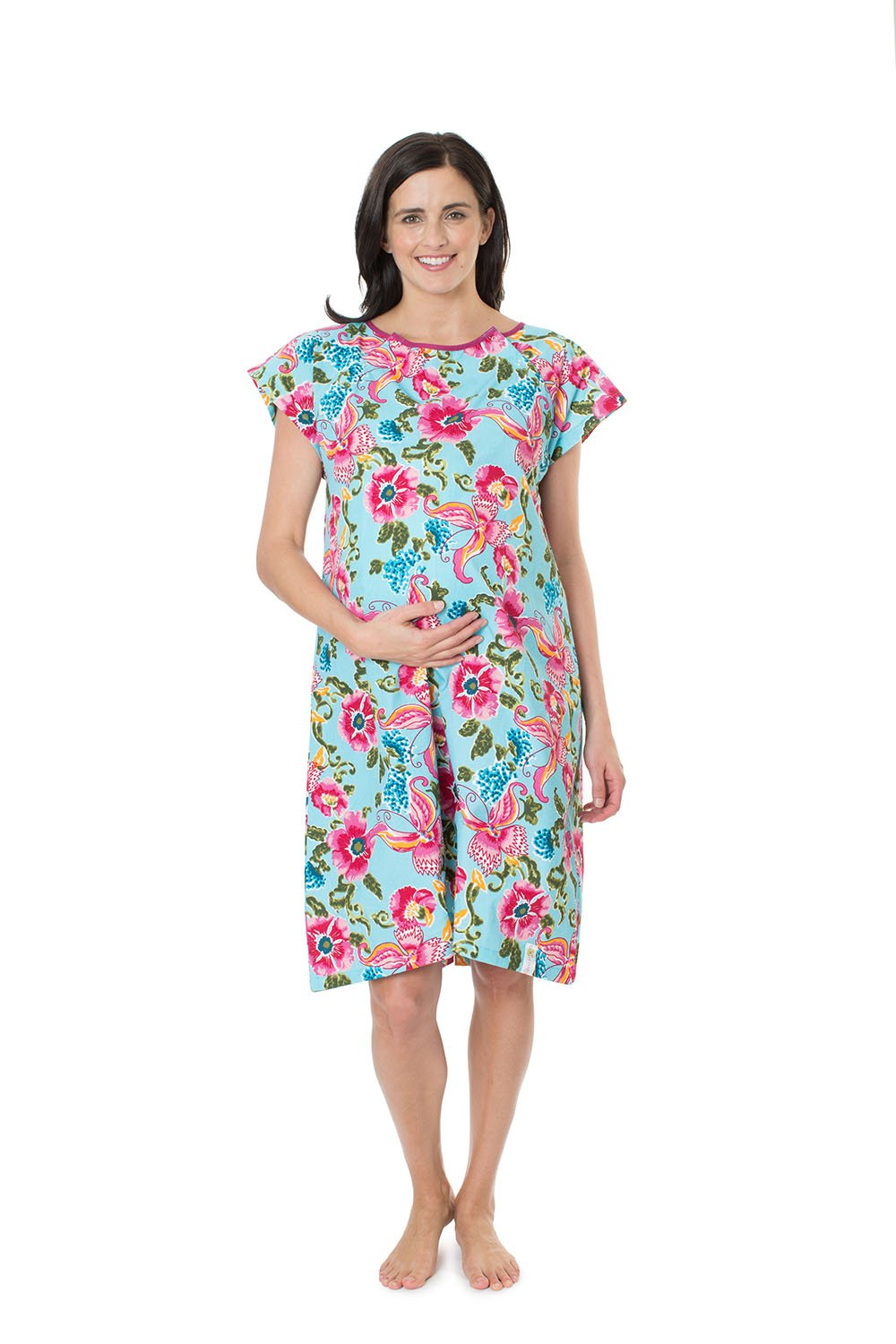 Isabelle Gownie - Maternity Delivery Hospital Gown Floral Baby ...