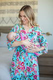 Isabelle Robe & Matching Swaddle Blanket Set