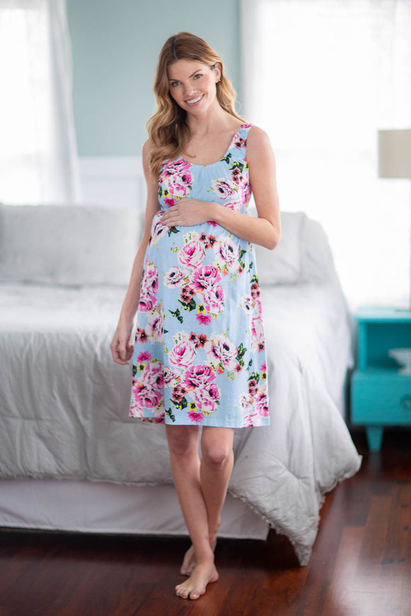 Isla Maternity/Nursing Sleeveless Nightgown