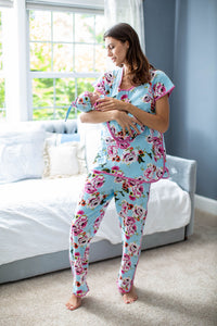 Isla Maternity Nursing Pajamas & Swaddle Blanket Set