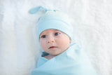 Light Blue Solid Swaddle Blanket Set