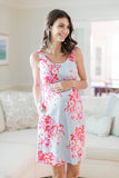 Mae 2 in 1 Maternity Nursing Sleeveless Nightgown