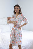 Mila Delivery Robe & Swaddle Blanket Set