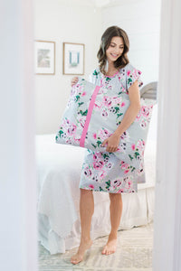 Olivia Gownie & Pillowcase Set Maternity Delivery Labor Birthing Hospital Gown Floral