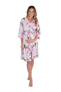 Amelia Floral Maternity Delivery Nursing Robe Hospital Bag Must Have