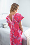 Rose Hospital Gown Gownie & Pillowcase Set