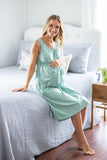 Sage Green Labor Gown & Matching Sadie Robe