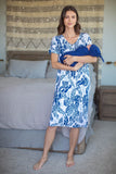 Maternity & Nursing Housedress with matching baby swaddle Mommy and me set