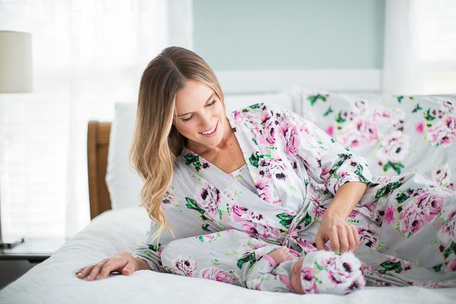ca82bc85eb305 ... Set · Olivia Floral Maternity Nursing Nightgown, Delivery Robe & Baby  Receiving Gown ...