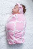 Emily Swaddle Blanket & Headband Set