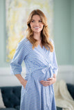 Zoe Striped Delivery Nursing Robe