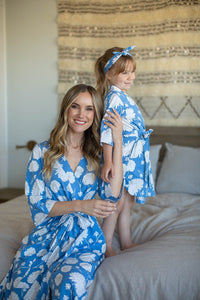Zoe Floral Mommy & Duaghter Big Sister Robe Set