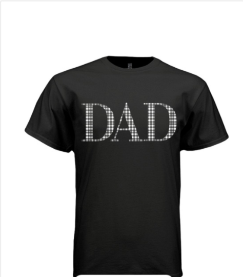 Black Gingham Dad T-shirt