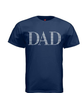 Blue Gingham Dad T-shirt