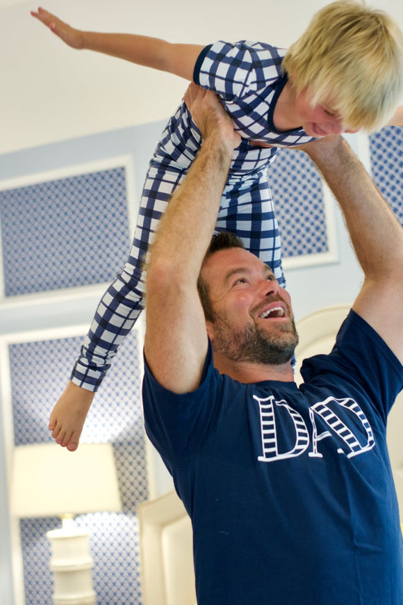 Navy Stripe Dad T-shirt