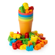 Play Brainy™ Colorful Counting Trains and Cups – Fun Educational Sorting Trains with Color Sorting Cups