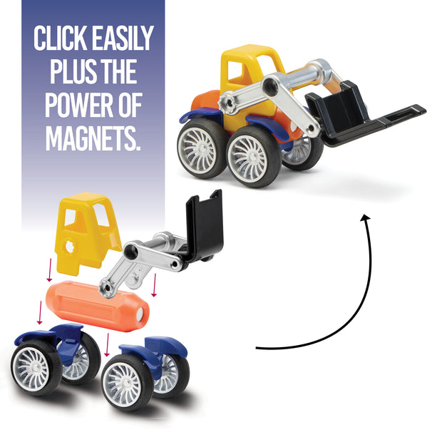Play Brainy Magnetic Toy Cars Set for Boys and Girls - Brilliant Educational Toys for Toddlers and Preschoolers - Montessori Toy is Load of Fun & Helps with Developmental Skills - 42 Piece Set