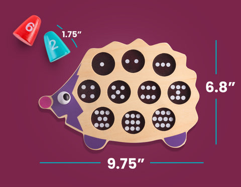 PLAY BRAINY™ Fun, Kid-Friendly and Math Educational- 3D Baby Animal Hedgehog Puzzle ( Recommend age 3 Years and up )