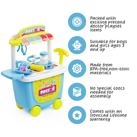 Play Brainy 22 piece Kids Doctor Playset