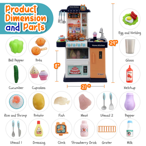 Play Brainy Kitchen Playset For Kids