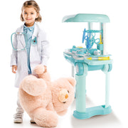 Play Brainy 23-Piece Kids Doctor Playset Converts to a Rolling Storage Suitcase