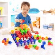 Play Brainy 96-Piece Stacking Peg Game