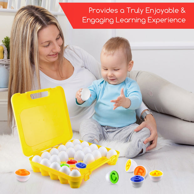 Play Brainy Montessori Alphabet Matching Eggs, 26 Pc.