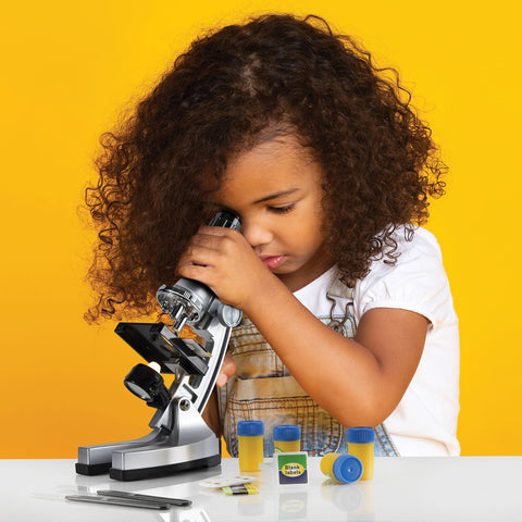 Play Brainy Kid's Microscope Kit, 33-Pc. Set,