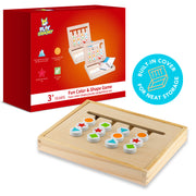 Play Brainy 2-Player Four-Color and Shape Puzzle Game Montessori