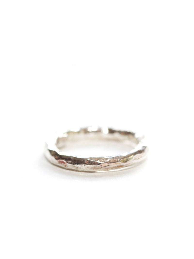 Avindy Hammered Chunky Silver Ring | Vegan Scene