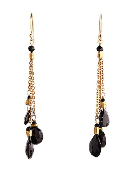 Avindy Black Spinel Briolette Earrings | Vegan Scene