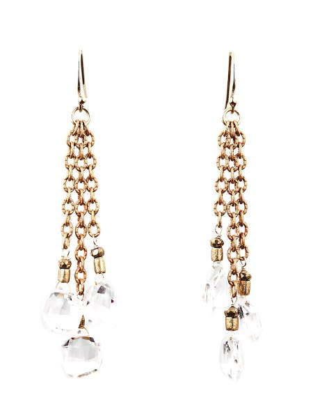 Avindy Clear Crystal Briolette Earrings | Vegan Scene