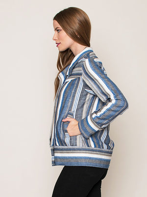 Legends & Vibes Boardwalk Striped Woven Jacket | Vegan Scene