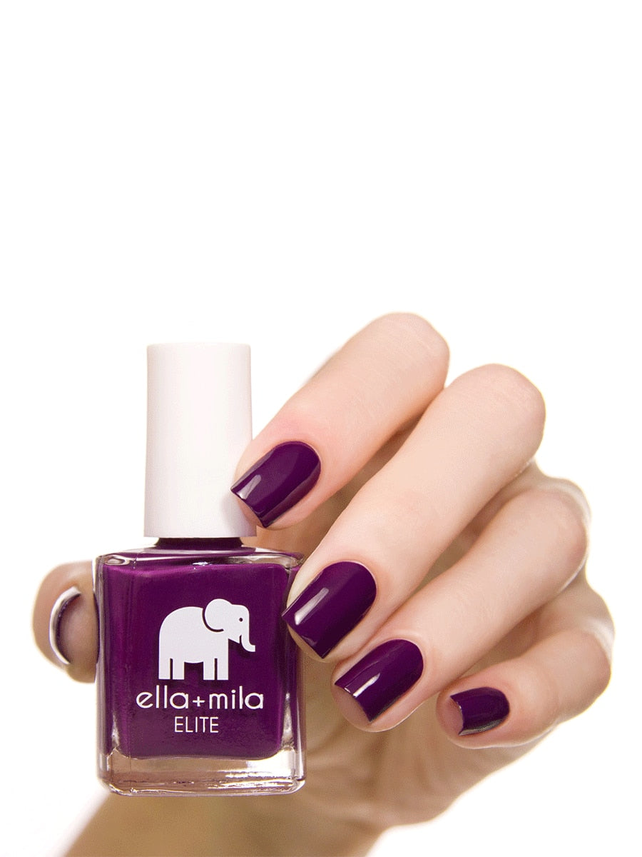 Ella+Mila Little Plum Dress Nail Polish | Vegan Scene