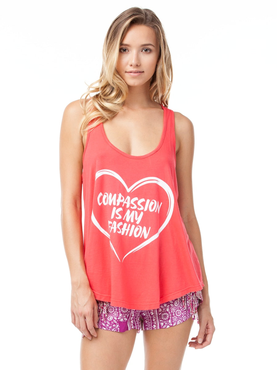 Vegan Scene Compassion Is My Fashion Flowy Tank | Vegan Scene