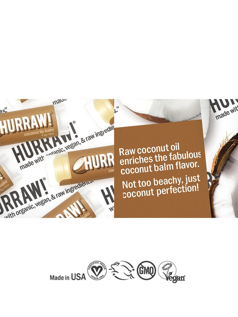 Hurraw Coconut Lip Balm | Vegan Scene