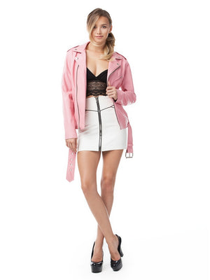 James Payne Pink Moto Jacket | Vegan Scene