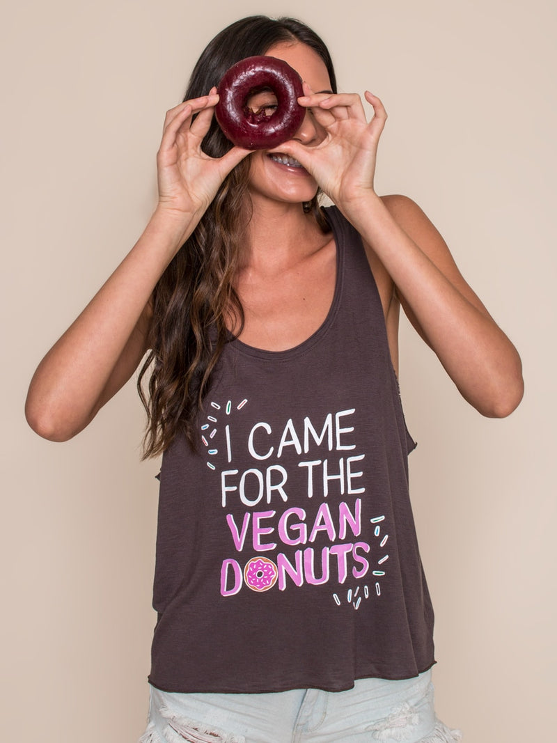 Vegan Scene I Came For The Vegan Donuts Tank | Vegan Scene
