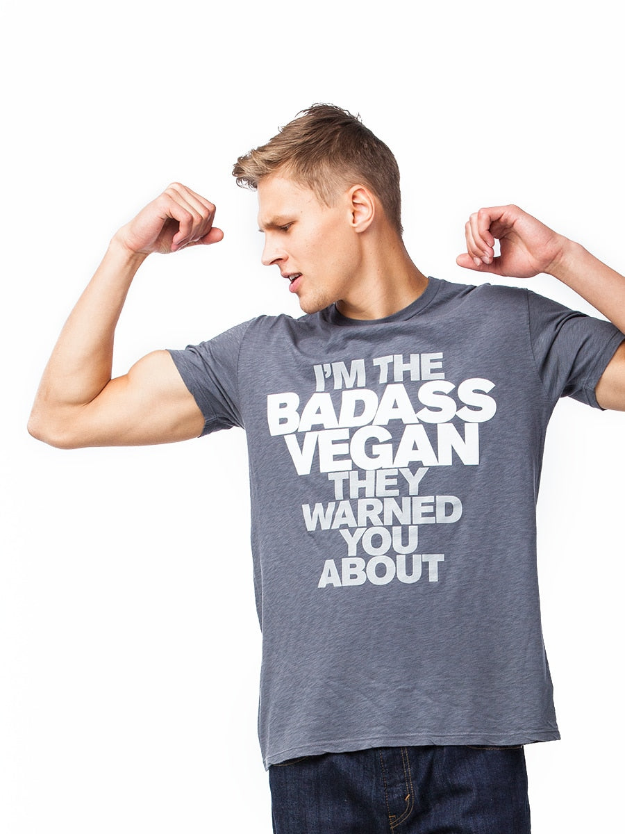 Vegan Scene I'm The Badass Vegan They Warned You About Unisex Tee | Vegan Scene