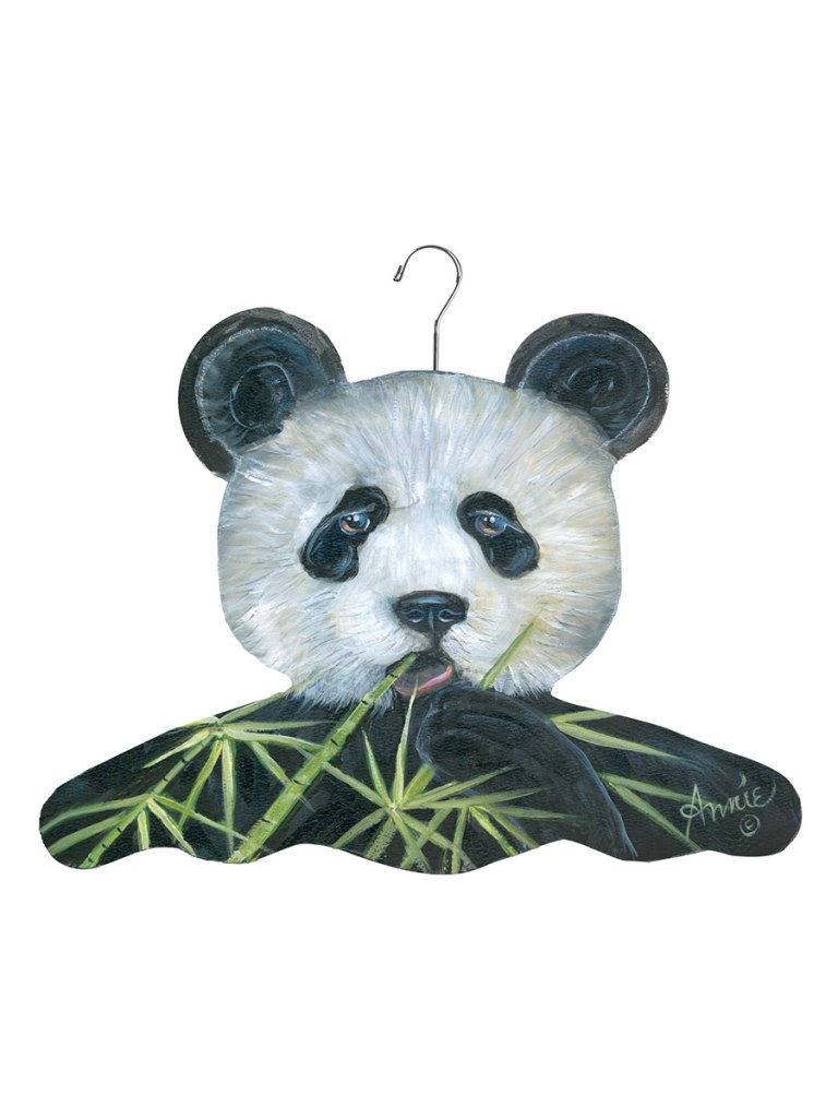 Stupell Home Panda Bear With Bamboo Hanger | Vegan Scene